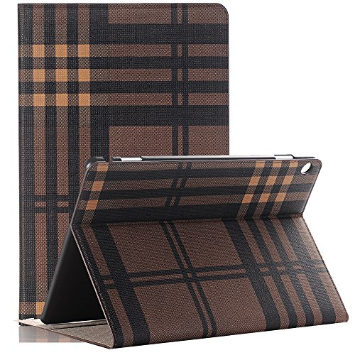 Sammid 2018 Huawei MediaPad M5 Cover, Protective Tablet Cover with Standing Function,PU Leather Case with Card Slot for Huawei MediaPad M5 10.8 inch - Brown by Sammid