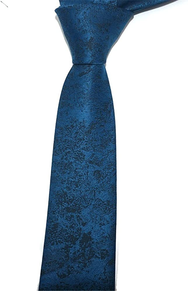 HXCMAN 6cm negro azul Cachemira floral paisley estrecho corbata ...