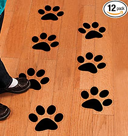 Paw Print Floor Or Wall Clings 12 Pack Health Personal Care