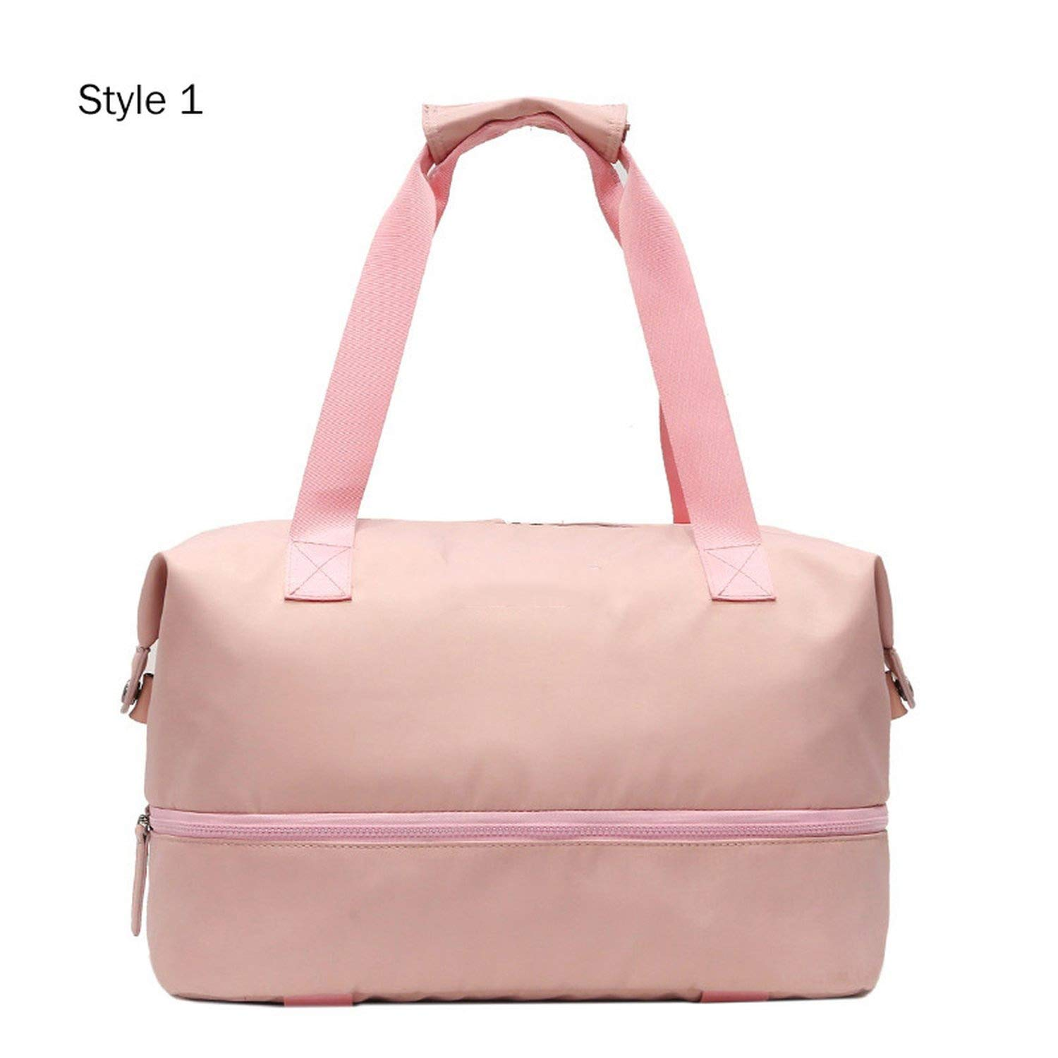 Sports Gym Fitness Dry Wet Separation Yoga Bag Travel Handbags Women Sport Luggage Duffle XA965WD,Style 1 Pink