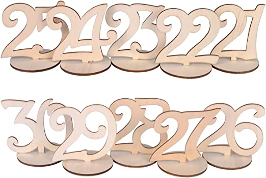 eZAKKA Mesa números 21 – 30 de Madera para números de Mesa con ...