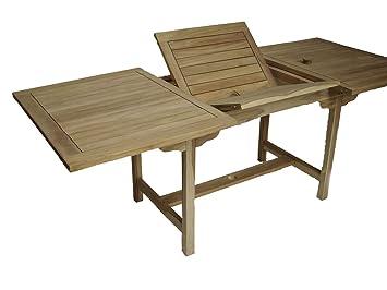 Amazon De Eckiger Tisch Gartentisch Teaktisch Ausziehbar 140 200 X
