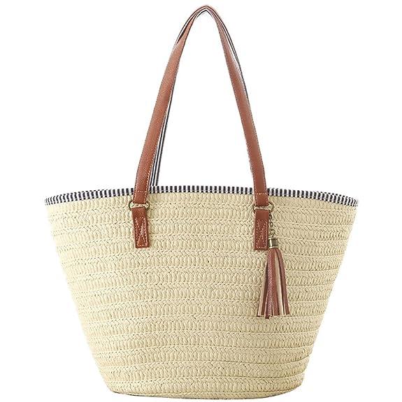 Donalworld Shell Beach Staw Bag Large Summer Women Handbag Shoulder Bags Aprt