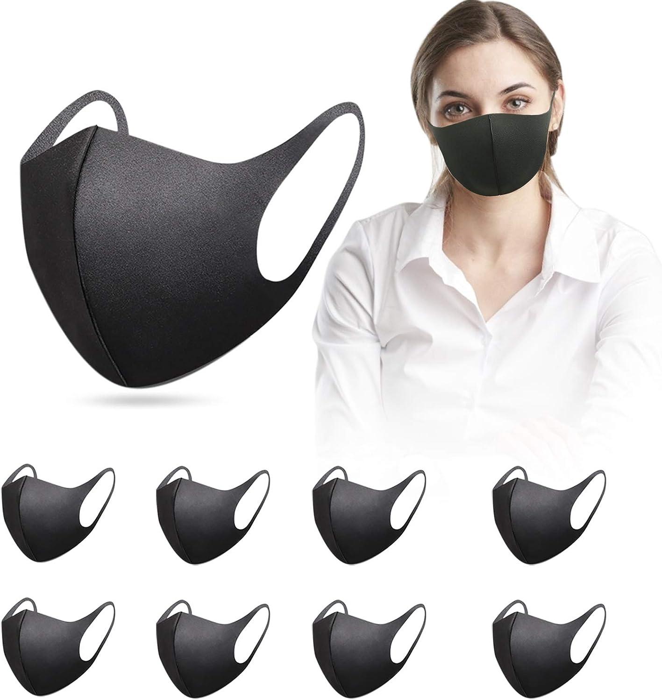 9 Stück Bequem Wiederverwendbar Waschbar Mund Und Nasenschutz Mundschutz Waschbar Bekleidung