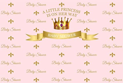 Amazon Com Lfeey 7x5ft Little Princess Baby Shower Photo Backdrop