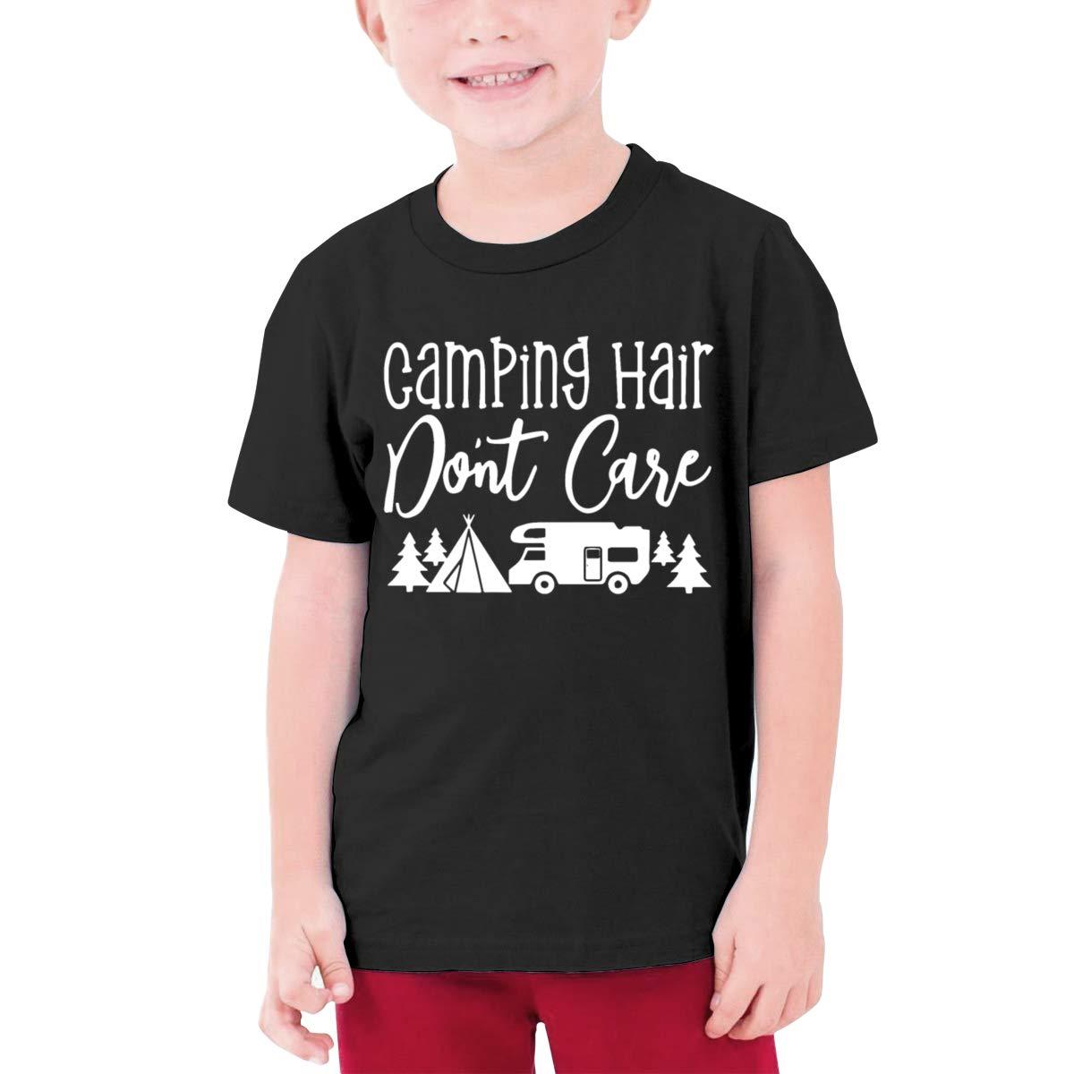 Fzjy Wnx Camping Hair Dont Care Boy Short-Sleeved Shirt