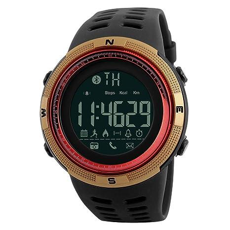 Amazon.com: Reloj Inteligente Hombres Chrono Calorías 5Bar ...