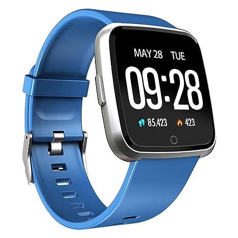 QTEC Reloj Inteligente Ip67 Impermeable Azul Fitness Tracker ...