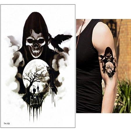 3 unids-Brazo Grande Tatuaje Impermeable Tatuaje Temporal Tatuaje ...