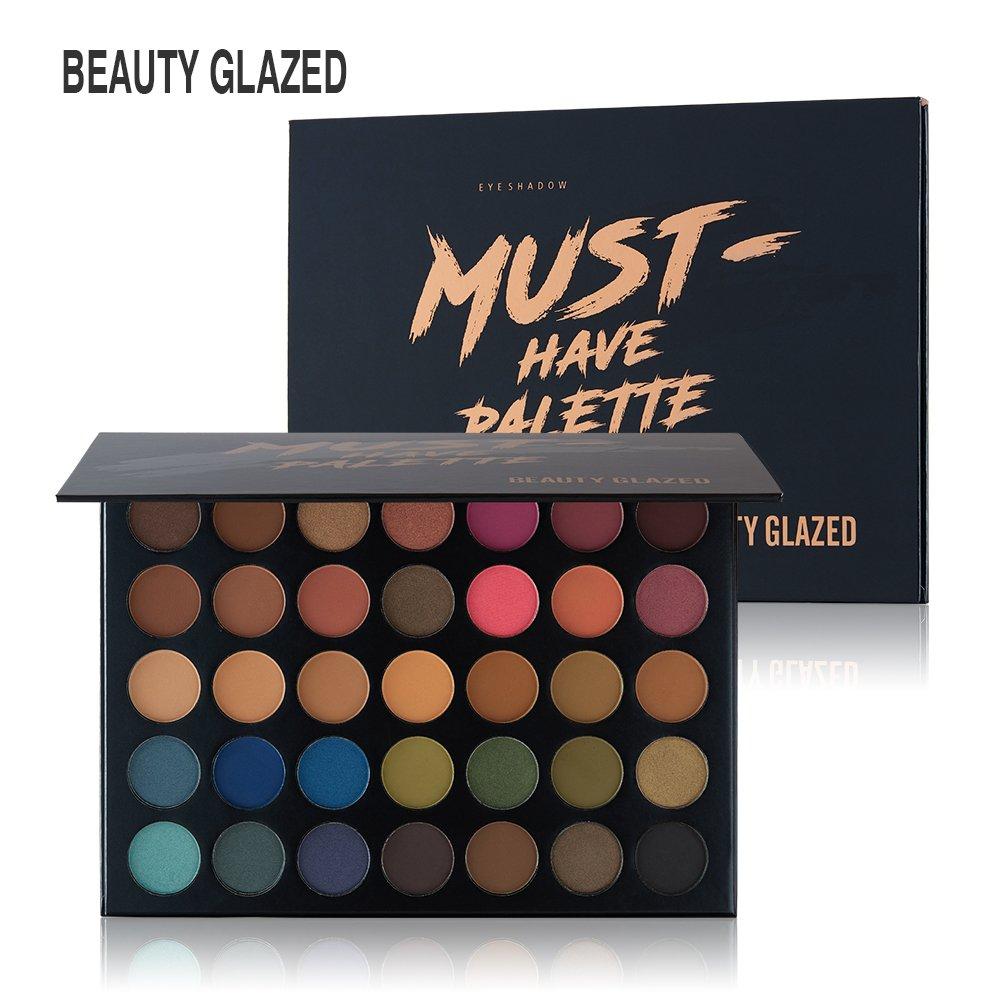 Beauty Glazed Professional 35 Colors Matte & Shimmer Eyeshadow Palette, Waterproof Pigmented Nude Smokey Eye Shadow Pallete by Beauty Glazed