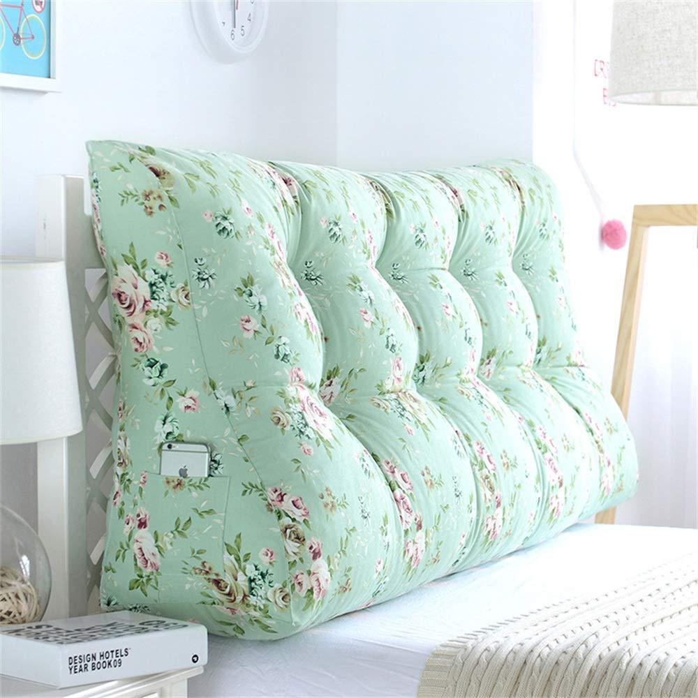 GLP ベッドサイドクッション三角背もたれ腰のソファ大きな枕張りパッド22色&8サイズで取り外し可能 (Color : S, Size : 180x30x60cm) B07RXFG53V