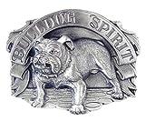 Bulldog Spirit Antiqued Belt Buckle