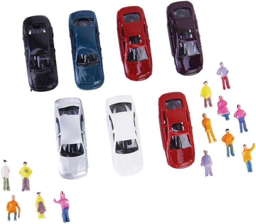 Newin Star 100 Piezas de pasajeros Figuras de la Gente 1 150 Personas diminutas Figuras a Escala Pose Modelo Multi usos Pintado a Mano