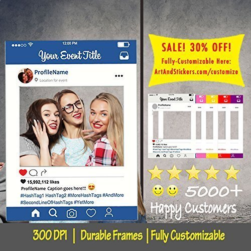 Amazon Customized Instagram Frame Cutout Selfi Prop