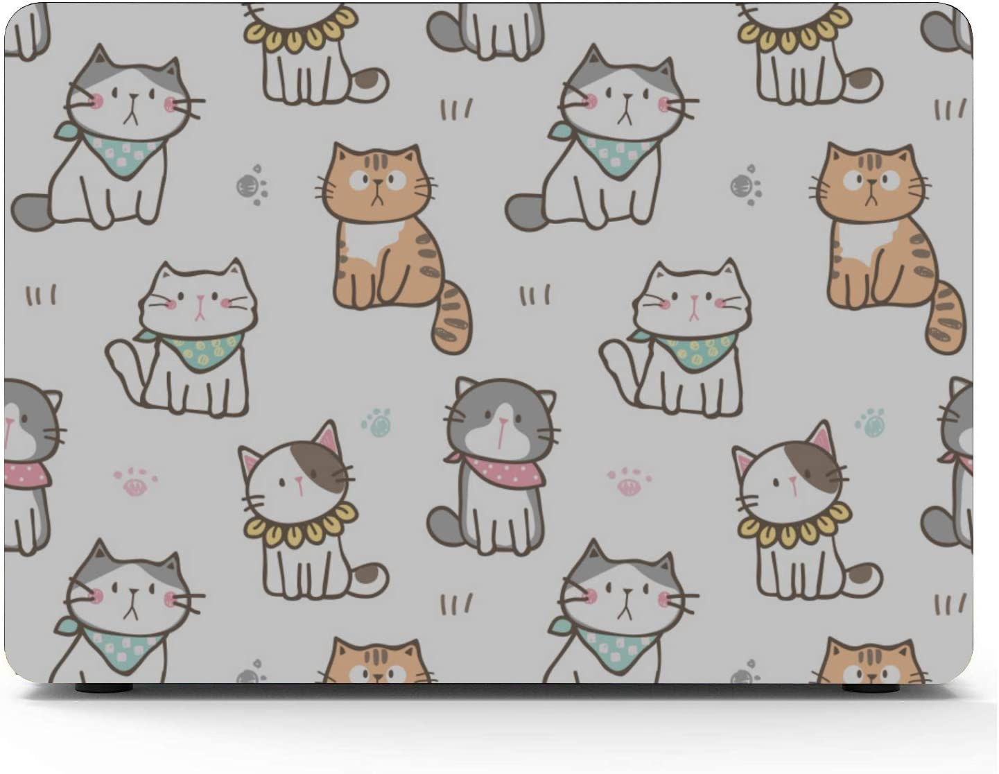 MacBook Pro 13in Case Cat Cute Lovely Pet Cartoon Plastic Hard Shell Compatible Mac Air 11 Pro 13 15 MacBook Air Covers Protection for MacBook 2016-2019 Version