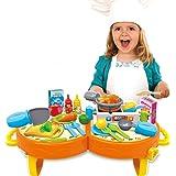 bowa pcs cocina juegos de rol juguetes cocinar playset con sonido de la luz
