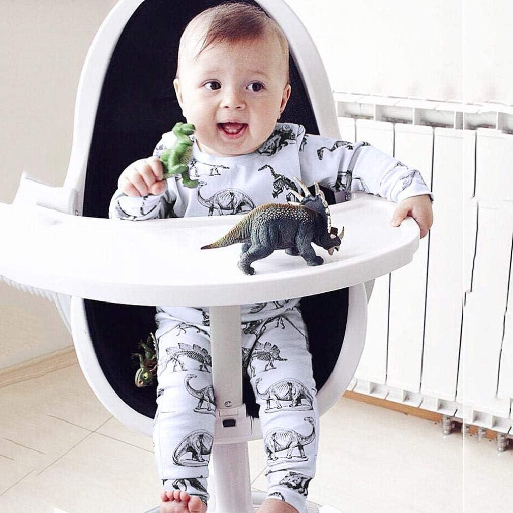 kaiCran Baby Clothes Boy,Newborn Baby Boy Long Sleeve Tops Long Pants Dinosaur Outfits Clothes Set
