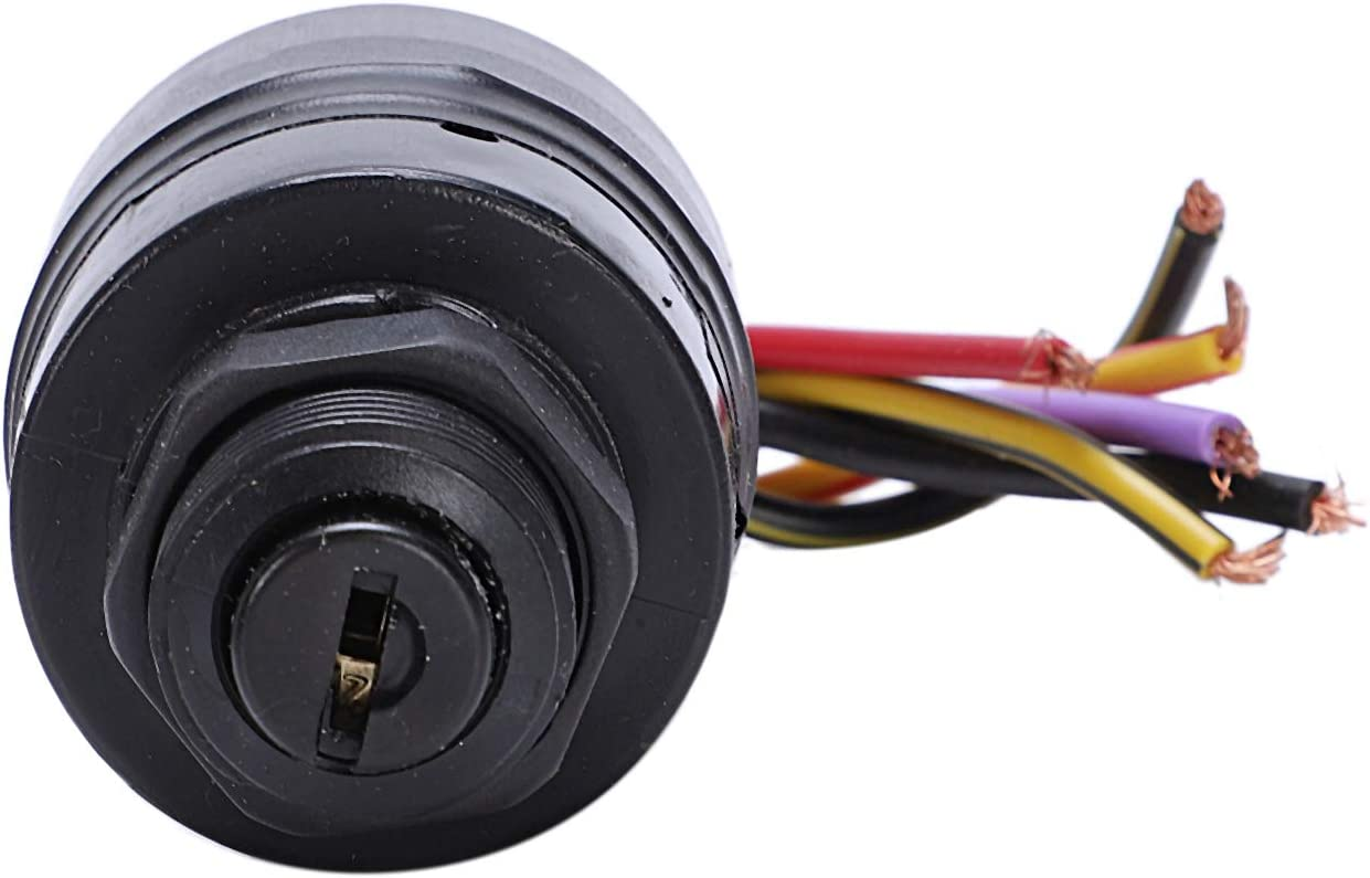 Semoic Ignition Key Switch 6 Wire Replaces 17009A5 Outboard Marine Ignition Switch For Mercury