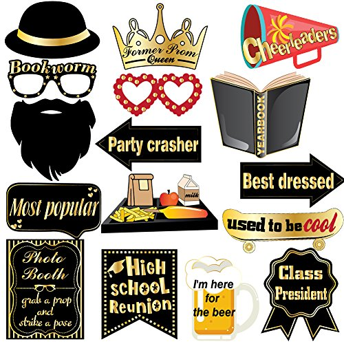 Class Reunion Photo Booth Props Kit High School Class Reunion Party