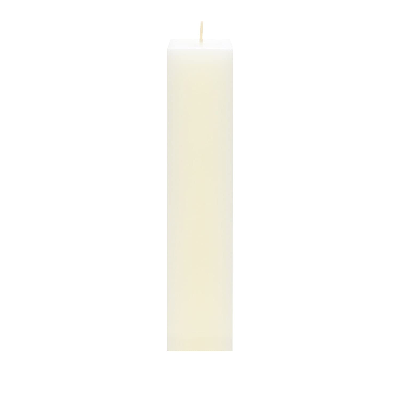 "Unscented 2/""x 9/"" Hand Poured SQR Premium Pillar Candle Gold 3PCS Mega Candles"