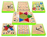 Beautys 101 5in-1 Compact Board Game Set -- Chinese Chess/Chinese Checkers/China's Military Chess/Aeroplane Chess/China Renju