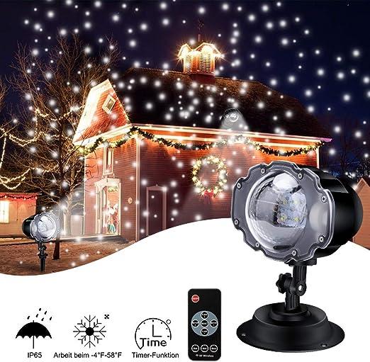 Luces de Proyector Navidad Exterior, ECOWHO Decoracion Navideña ...