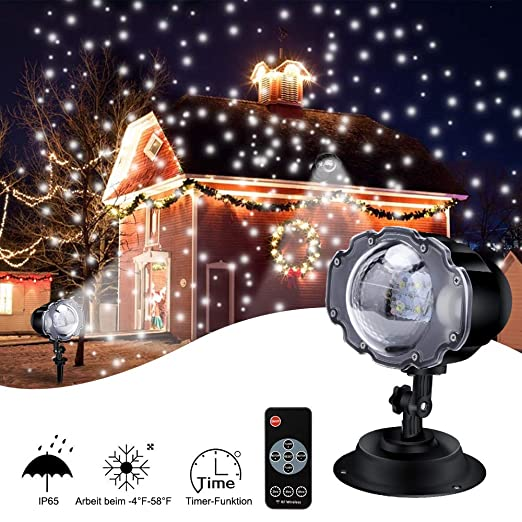Luces de Proyector Navidad Exterior, ECOWHO Decoracion Navideña, Luces de Navidad, Luz de Proyección de Nieve Proyector de Luces Navidad Luce de ...