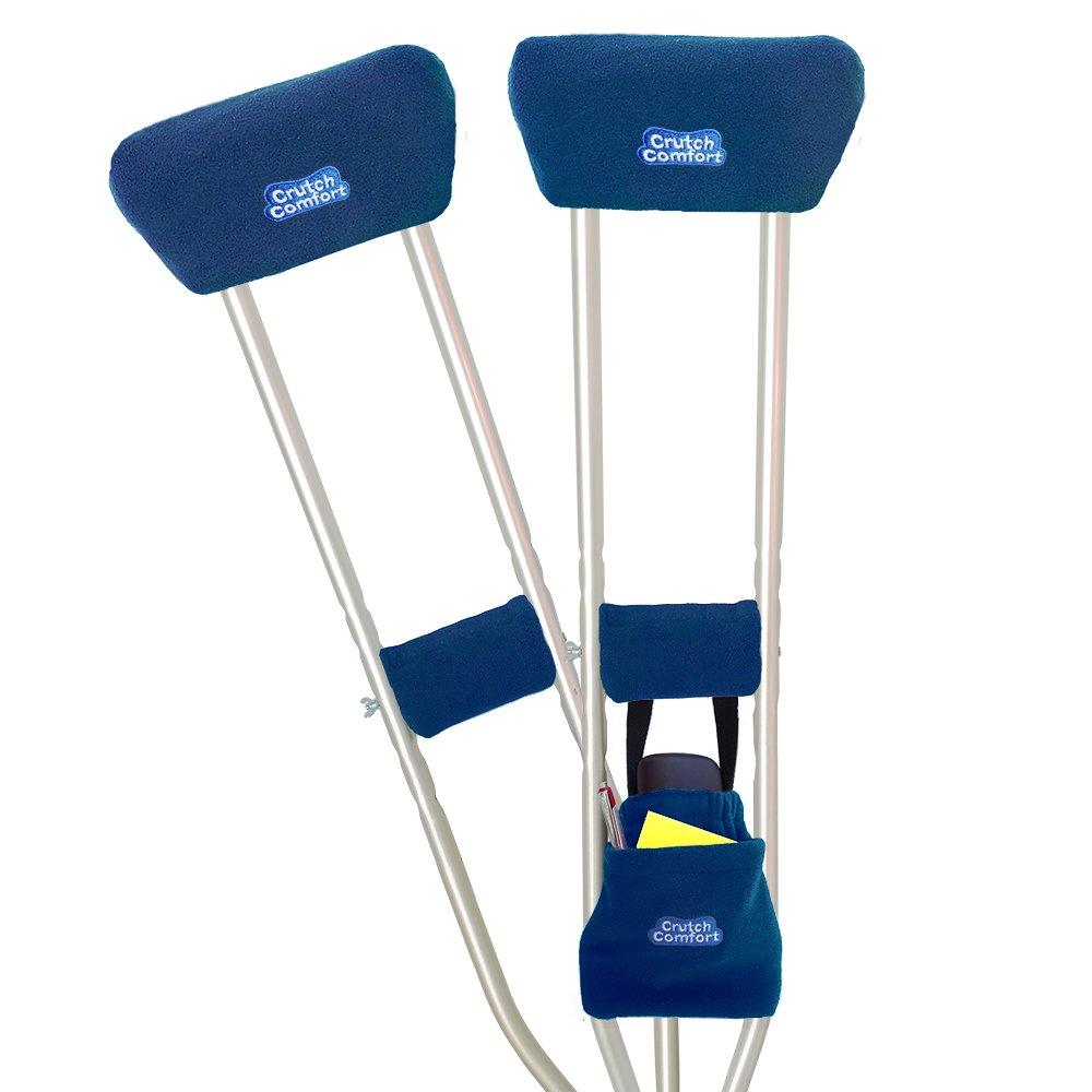 Universal Crutch 5-Piece ''Get Well Soon'' Gift Bundle (Dark Blue)