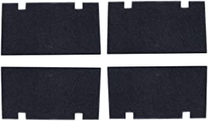 "4 Pack Black 14"" x 7.5"" RV A/C Air Filters Replace Camper Air Conditioner Filter Foam 3313107.103/3105012.003"