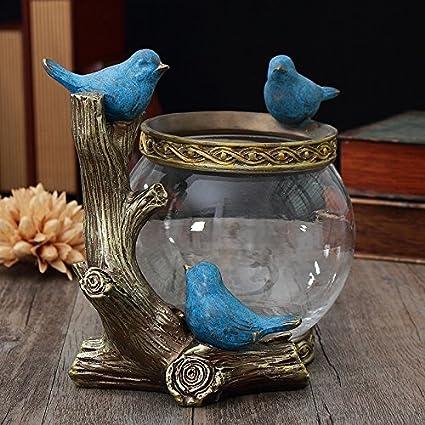 STJK$BMJW Pecera Jarrón De Ornamento De Escritorio Salón Acuático Armario Tv Home Furnishing Ornamentos