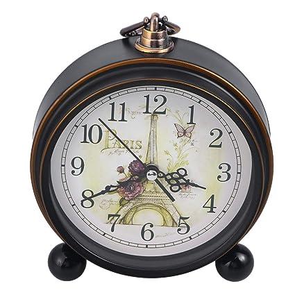 Amazoncom Vintage Style Alarm Clock Silent Antique Retro Table