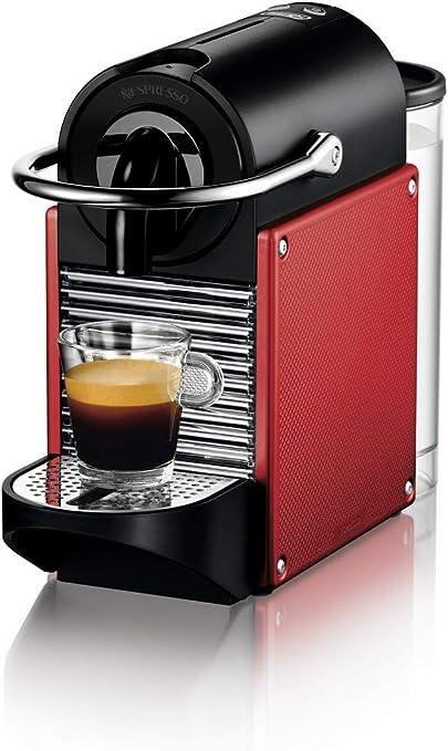 Nespresso DeLonghi Pixie EN125R - Cafetera monodosis de cápsulas Nespresso, 19 bares, apagado automático, color rojo carmín: 124.99: Amazon.es: Hogar