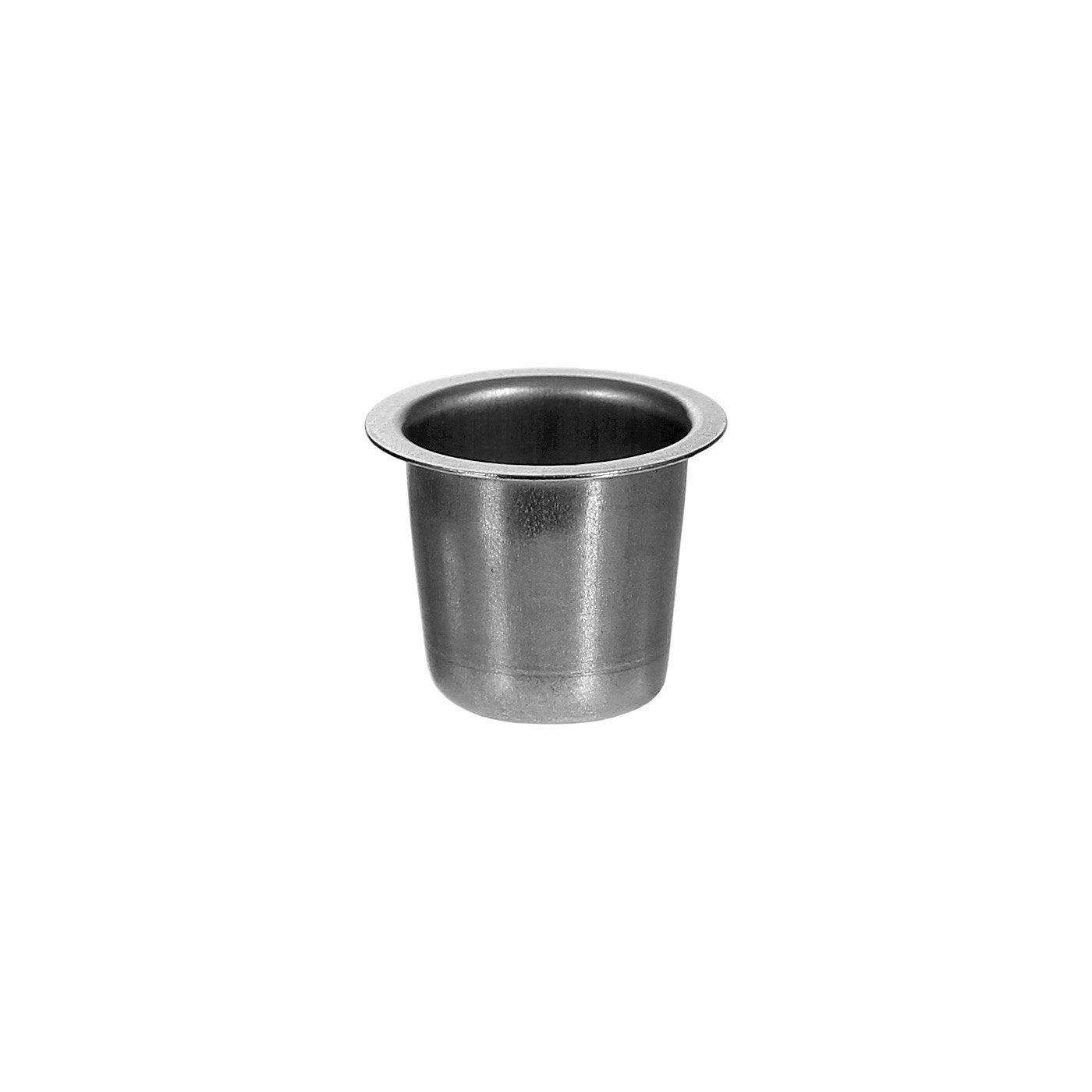 Kerzenhalter konisch Silber 22mm - Tülle und Tropfenfänger einzeln oder im Set, Größe Tülle 100er Set