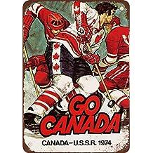 "7"" x 10"" Metal Sign - 1974 Canada vs. USSR Hockey - Vintage Look Reproduction"