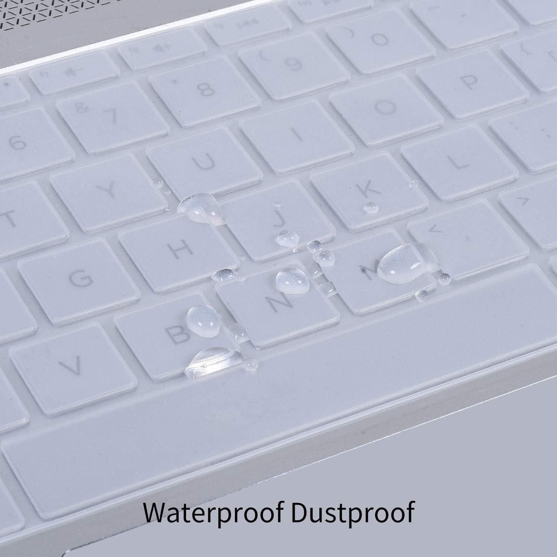 Transparent Saco Chiclet Keyboard Skin for HP Split x2 13-m210dx 2-in-1 Laptop