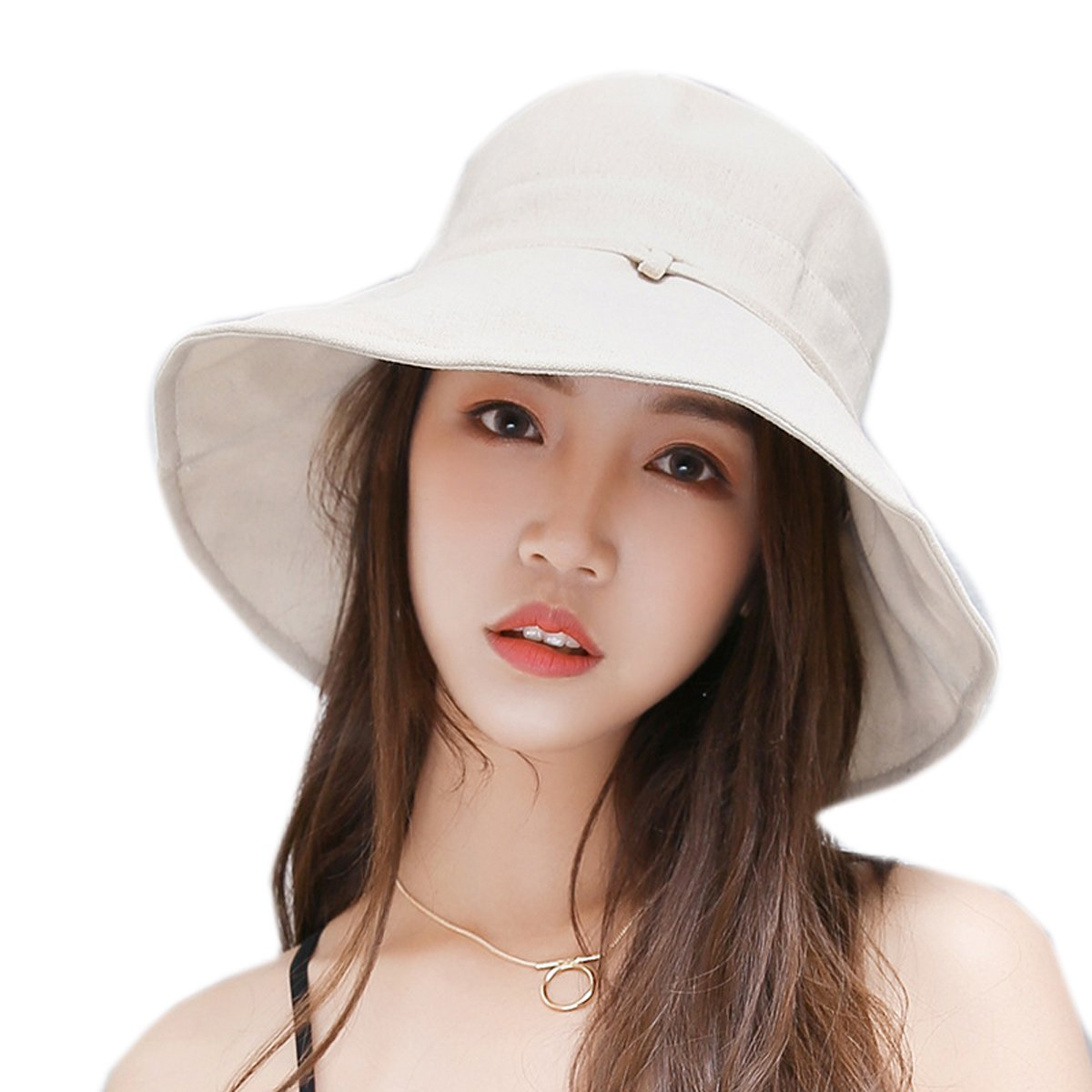 HAPEE Womens Sun Hat,Both Sides wear,UPF 50+ Beach Hat Foldable Wide Brim by HAPEE (Image #1)