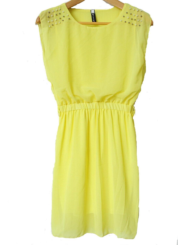 xhorizon TM Elegant Summer Women Chiffon Party Dress Belt One-piece Dress