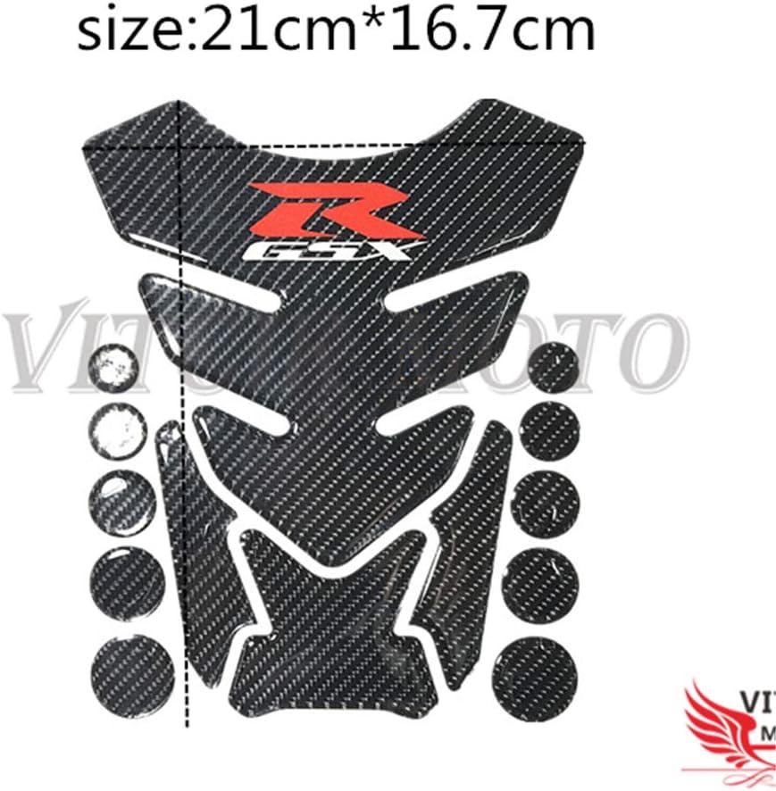 GSXR VITCIK Autocollants 3D de protection du coussinet du r/éservoir de carburant pour motos de course