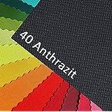 OXFORD 600D couleur 40 | ANTHRACITE tissu polyester 1 lfm OUTDOOR imperméable extrêmement résistant aux déchirures PVC vendu au mètre, toile de voile, bâche, tente, sac à dos