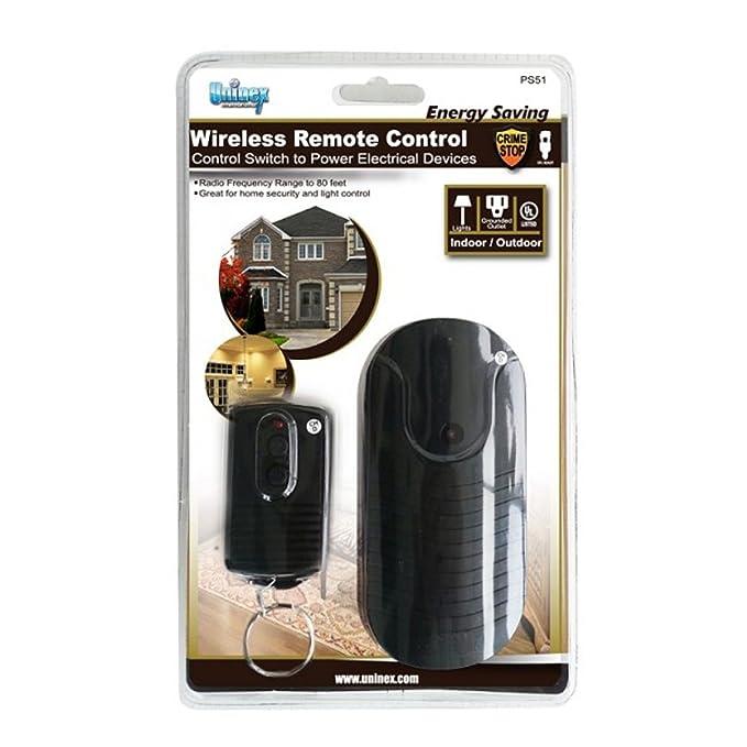Amazon uninex indoor outdoor wireless remote control switch amazon uninex indoor outdoor wireless remote control switch power outlet ac plug ul home audio theater mozeypictures Images