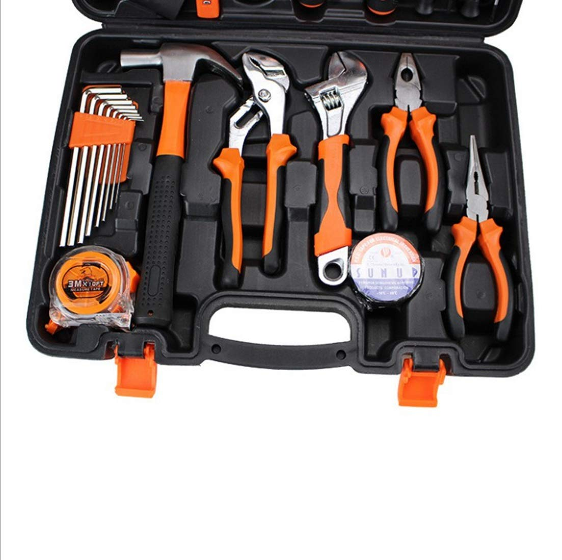 Juego de herramientas herramientas herramientas de mano para el hogar Caja de herramientas de reparación de hardware Electricista Juego de carpintería (Color : Naranja) 6f1520