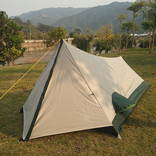 Single Person Tent Ultralight ,Lightweight Backpacking Tent ,Personal Bivy Tents Easy Setup for Travel Outdoor Mountaineering Hiking 1 Man Tent (Only Weight 2.6lbs)