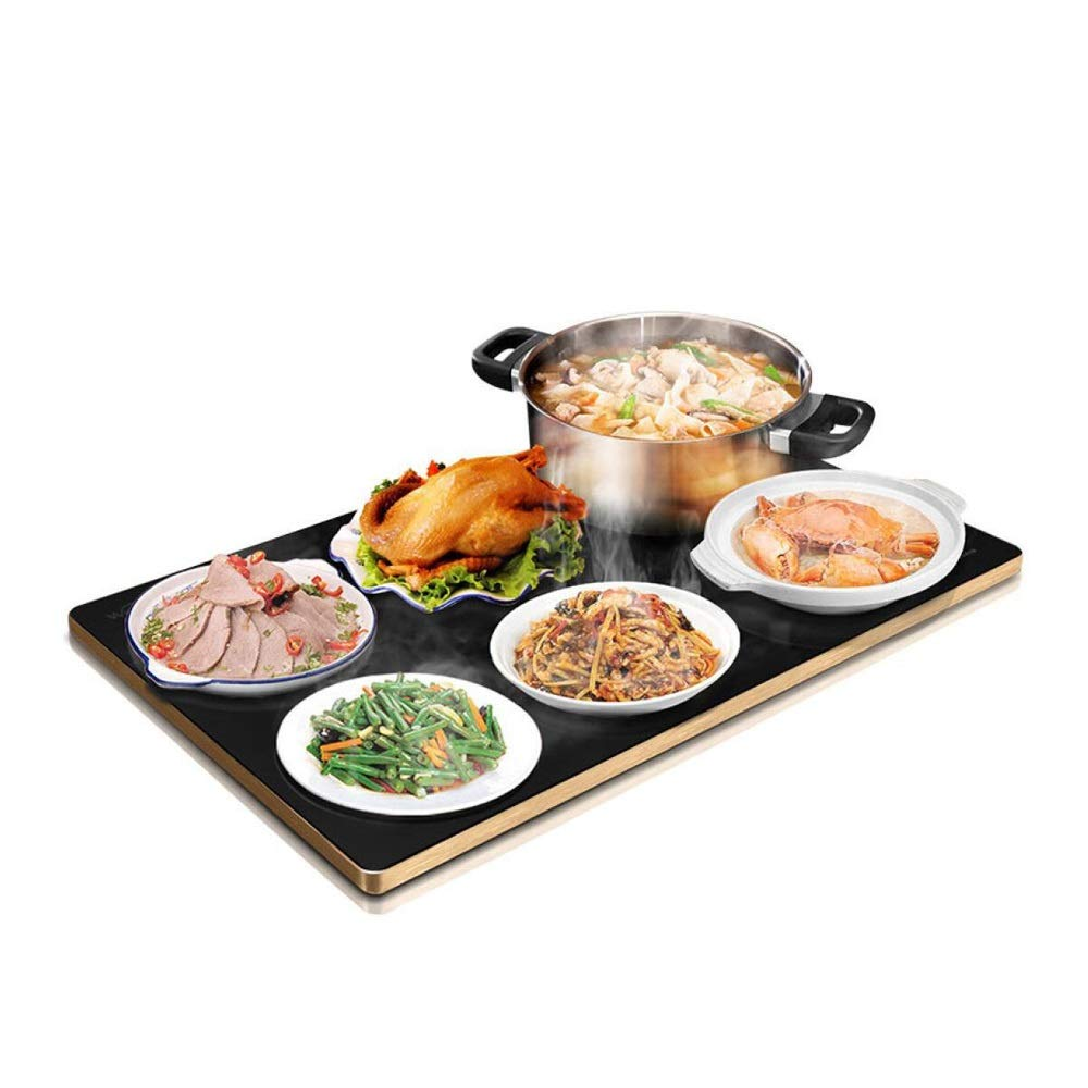 MYXMY Meal Insulation Board, Warming Board, Hot Plate, Heating Insulation Pad, Home Multi-Function Heater, Touch(Black) by MYXMY