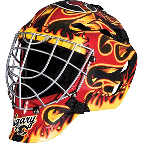 Franklin Sports Calgary Flames Goalie Mask - Team Graphic Goalie Face Mask - GFM1500 Only for Ball & Street - NHL Official Licensed Product