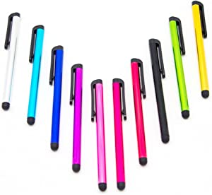 10 Pack Universal Touch Screen Capacitive Stylus Pens by Wireless Pro for iPhone 5 5C 5S 6 6 Plus iPad iPod Touch Samsung S3 S4 S5 Note Note 3 Note 3 Note 4 Kindle Fire Kindle Fire HD and more