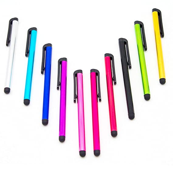 10 Pack Universal Touch Screen Capacitive Stylus Pens by Wireless Pro for iPhone 5 5C 5S 6 6 Plus iPad iPod Touch Samsung S 3 S4 S5 Note Note 3 Note 3 Note ...