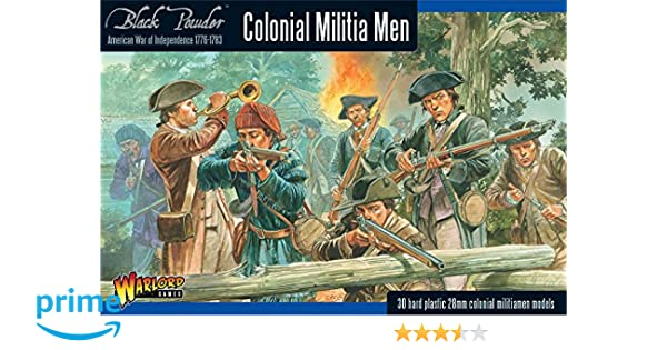 Black Powder Revolutionary War Colonial Militia Men 1:56 Military Wargaming  Plastic Model Kit