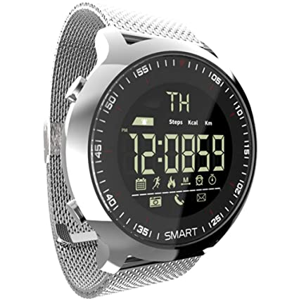 FRWPE Smart Watch Men Sport LCD podómetros Impermeables ...
