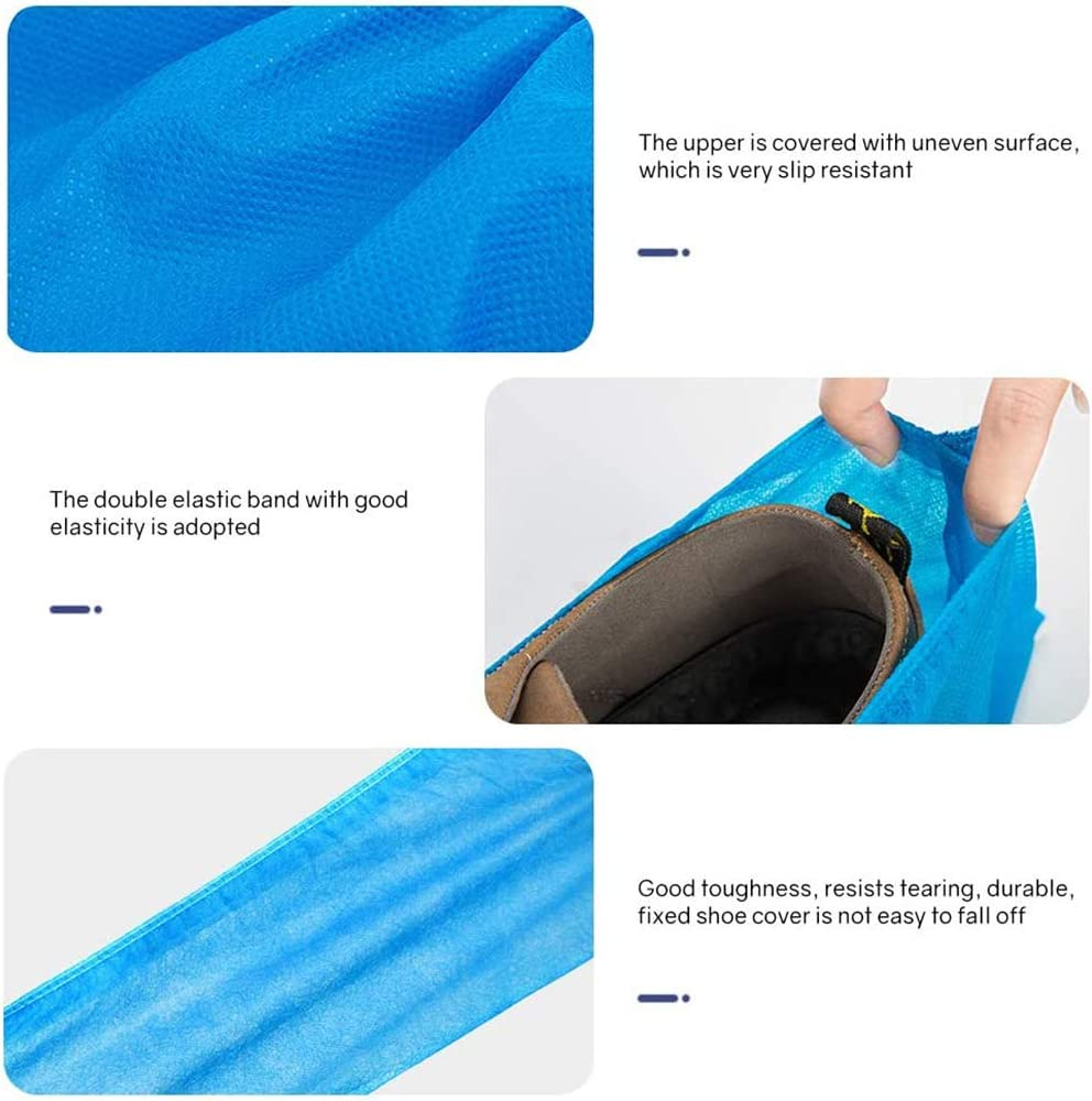 Shoe Covers Disposable Non Slip -100 Pack(50 Pairs)Non-woven Disposable Shoe /& Boot Covers Slip Resistant Durable Boot /& Shoes Cover For Home Lab Workplace Visiting One Size Fits All