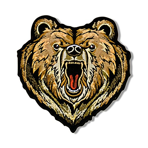 Hot Leathers, BEAR, Iron-On / Saw-On High Thread Embroidered Rayon PATCH - 4